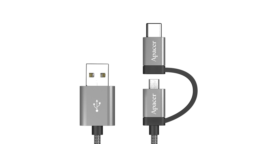 DC170 Type-C / Micro USB to USB 2.0 Cable